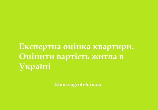 Експертна оцінка квартири. Оцінити вартість житла в Україні