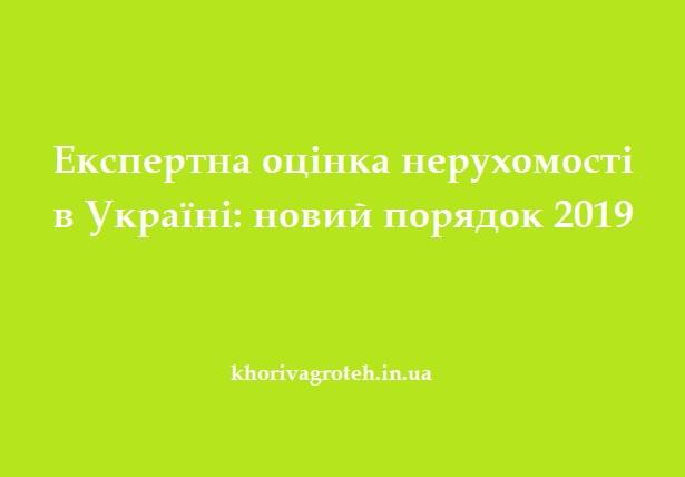 Експертна оцінка нерухомості в Україні